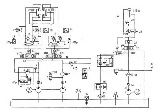 开关电源电路图详解 钻床液压系统原理图